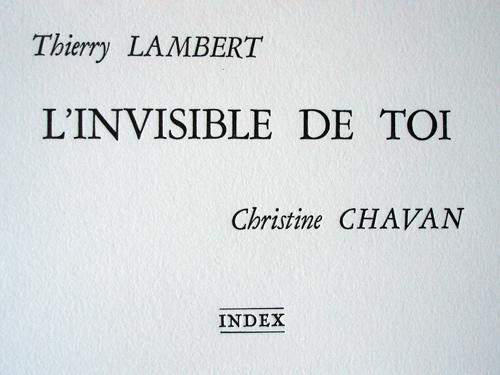 L'invisible de toi